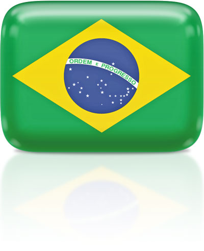 Brazilian flag clipart rectangular