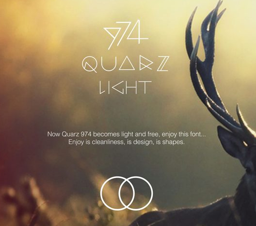 QUARZ 974 Light Free Fonts