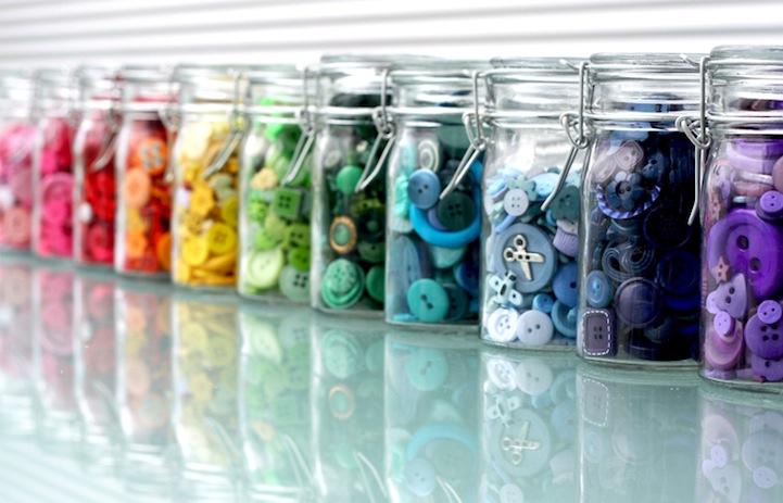 *彩虹鈕扣藝術畫:Karen Hurley 幼年的激發! 3