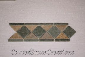 Border, Flooring, Flooring & Mosaics, Interior, Listello, Mosaic, Natural, Quartzite, Slate, Stone