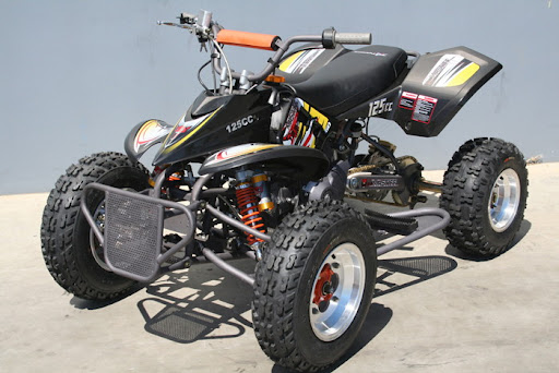 Black Mastiff 125cc Alloy Race Quad Bike