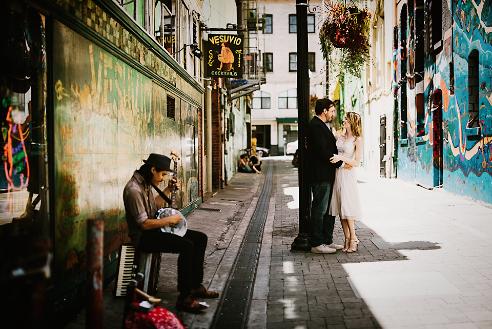 Little Italy Engagement Photos