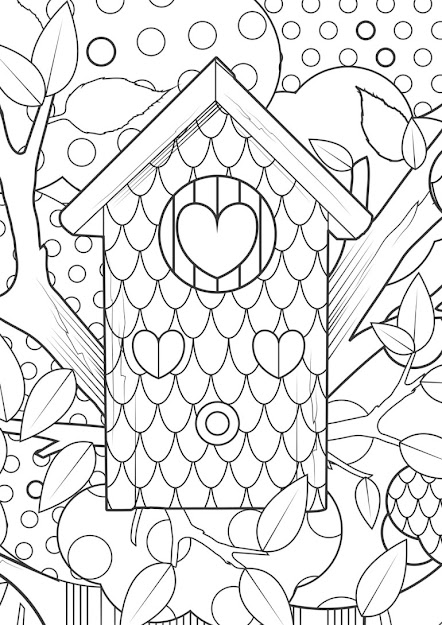 Abstract Heart Coloring Page Abstra  Hard