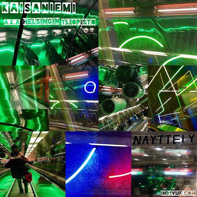 Kaisaniemen a.k.a Helsingin Yliopiston metroaseman tunneli -kollaasi