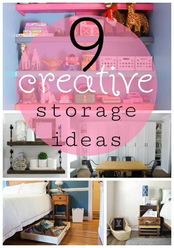 9 Creative Storage Ideas at GingerSnapCrafts.com #storage #organization