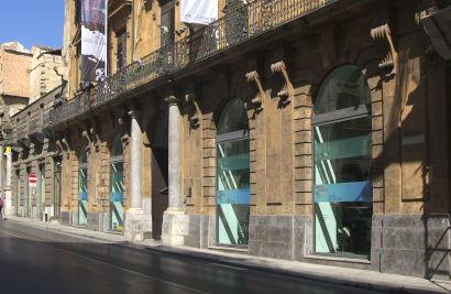 Sizilien - Das Museo d'Arte Contemporanea della Sicilia im Palazzo Riso in Palermo.