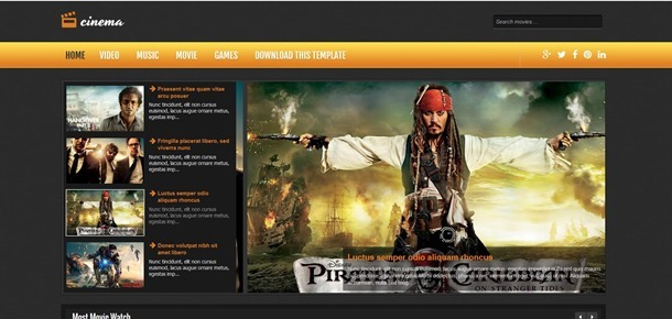 cinema-blogger-template