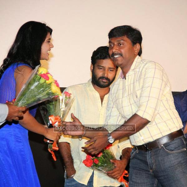 Ishwarya Rajesh during the audio launch of Thirudan Police, in Chennai.