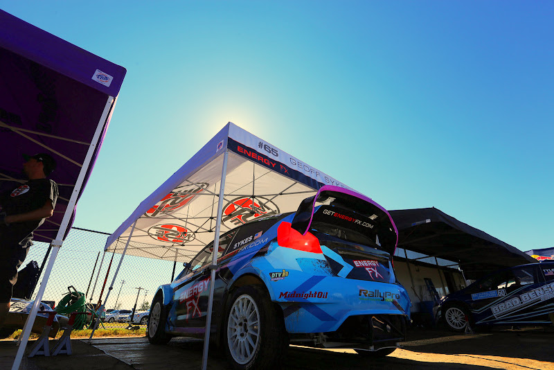 Race day morning. The #65 Global Rallycross Supercar Lite has no idea what's coming today... and neither do we....that's one of the fun parts of rallycross racing!