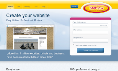 beep.com free online website builders