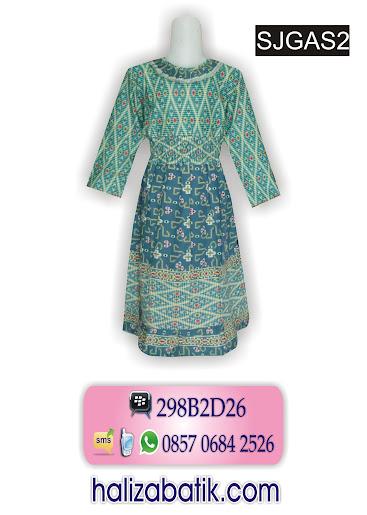 busana masa kini, desain baju batik terbaru, model baju gamis batik