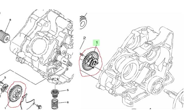 Racing Oil Pump Gear 33T Yamaha LC135 / MX King / Y15ZR