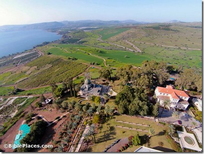 Mount of Beatitudes aerial from northeast, ws011415241