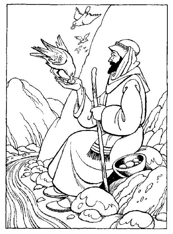 Profeta Elías para colorear