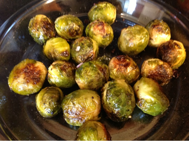 maple glazed roasted brussels sprouts