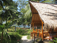 View from our home, Banana Cottages - Gili Air
