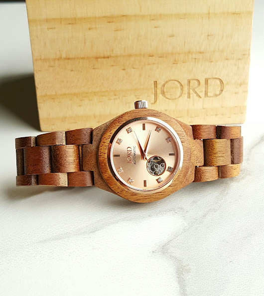 JORD Wood Watch in Koa and Rose Gold*