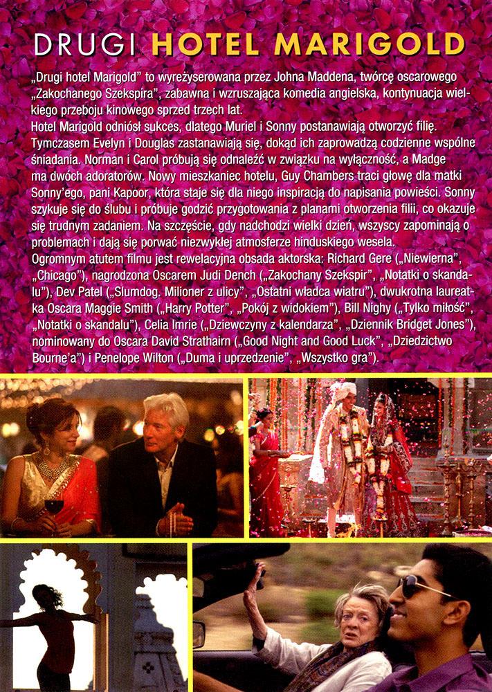 Ulotka filmu 'Drugi Hotel Marigold (tył)'