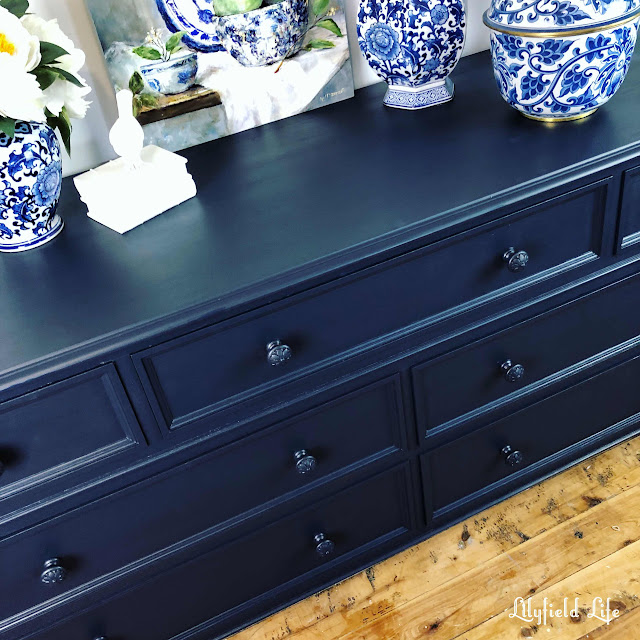 painted navy drawers Lilyfield Life