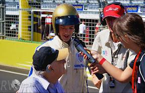 Sir Jack Brabham and grandson Sam Brabham recreate Sir Jack's  finish at Sebring to win his first F1 Championship