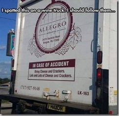 in case of accident-wine