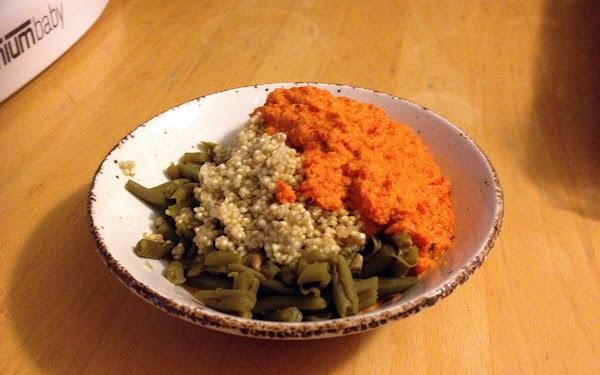 Quinoa met haricots verts en paprikasaus - 1 jaar oud kind
