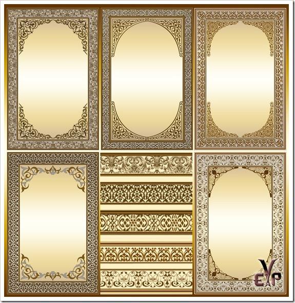 Precious golden photo frames