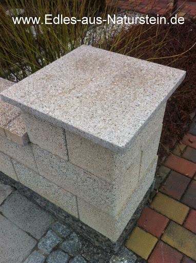 mauerabdeckung pfeilerabdeckung granit naturstein gelb einbaufertig poliert neu ebay. Black Bedroom Furniture Sets. Home Design Ideas