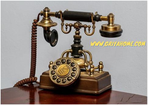 Telepon Rumah Jaman dulu Sebagai Dekorator Ruang