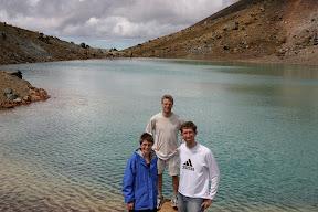 Lana, Gus, and I at the Emerald Lakes