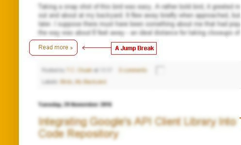An Example Of A Jump Break At My Blogger Homepage