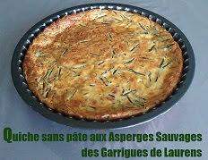 Quiche sans pâte aux asperges sauvages des garrigues de Laurens
