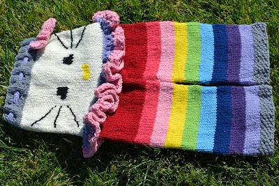 Rainbow Kitty Longies