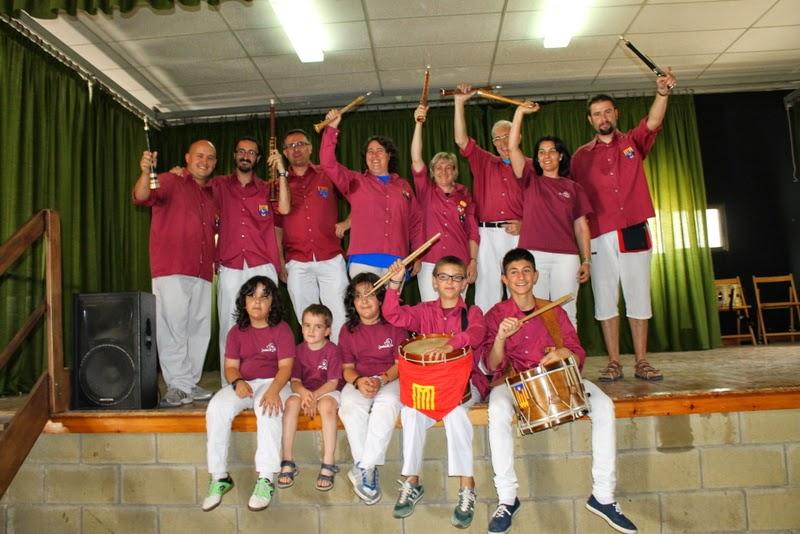 Audició Escola de Gralles i Tabals dels Castellers de Lleida a Alfés  22-06-14 - IMG_2415.JPG