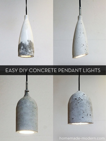 {DIY} Concrete lamp pendant