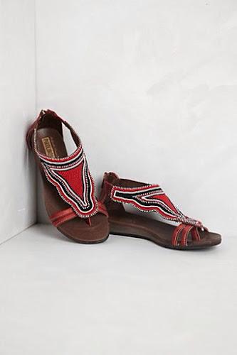 Sandalias estiló étnico