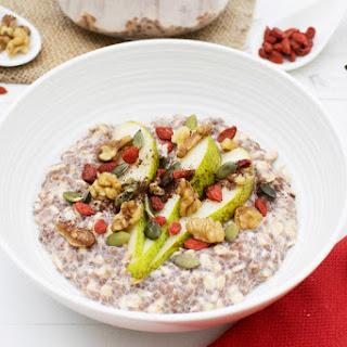 Raw Chocolate Overnight Porridge [vegan] [gluten free].