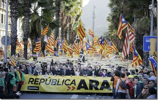 March 11 demo for Republic Now in Barcelona