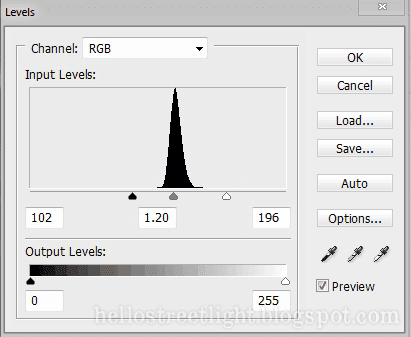 Levels settings