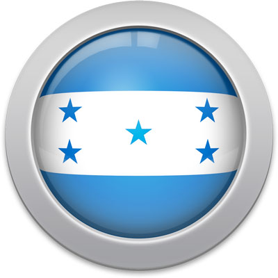 Honduran flag icon with a silver frame