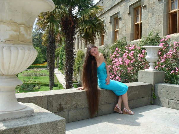 Rapuzel woman very long hair