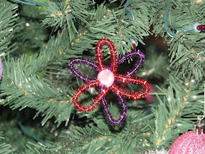 Glitter stick/Pipe cleaner flower