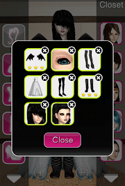 Click to Enlarge - Style Me Girl Level 35  - Romantic Vampire - Elisia - Closet