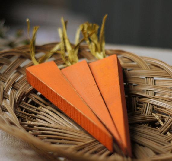 wood carrots