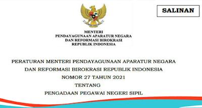 Permenpan RB Nomor 27 Tahun 2021
