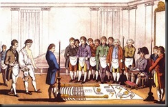 Masonic initiation Paris