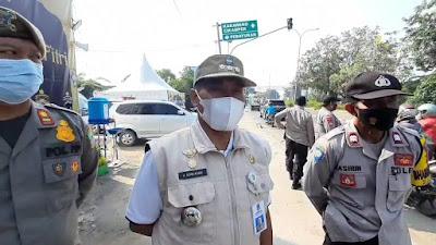 Penyekatan di Kedungwaringin Kabupaten Bekasi