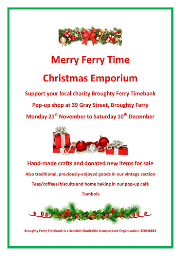 "Merry Ferry Time Chris""tmas Pop Up Shop November - December 2016"