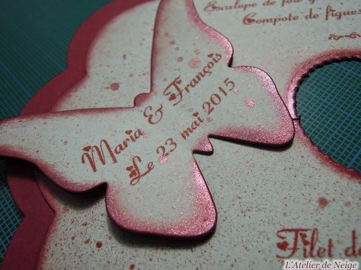 264 - Menus Mariage  Maria et François 23 mai 2015