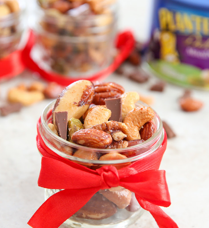 photo of a jar filled with mixed nuts